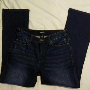 Who What Wear 2 Dark Wash Straight Leg Blue Jeans